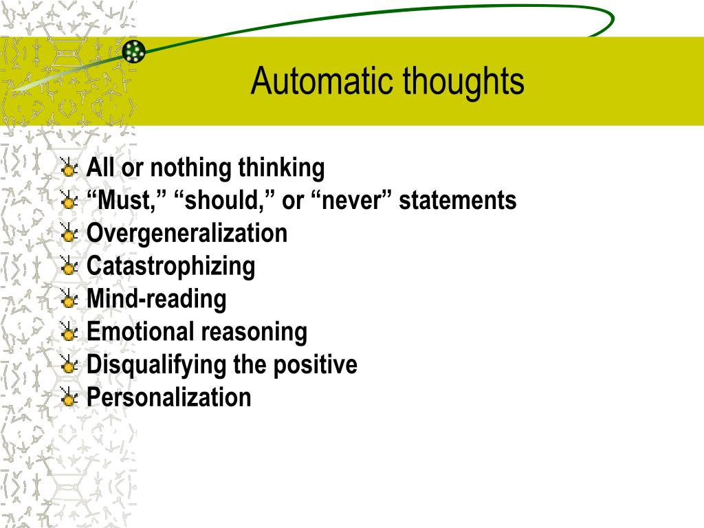 Automatic thoughts