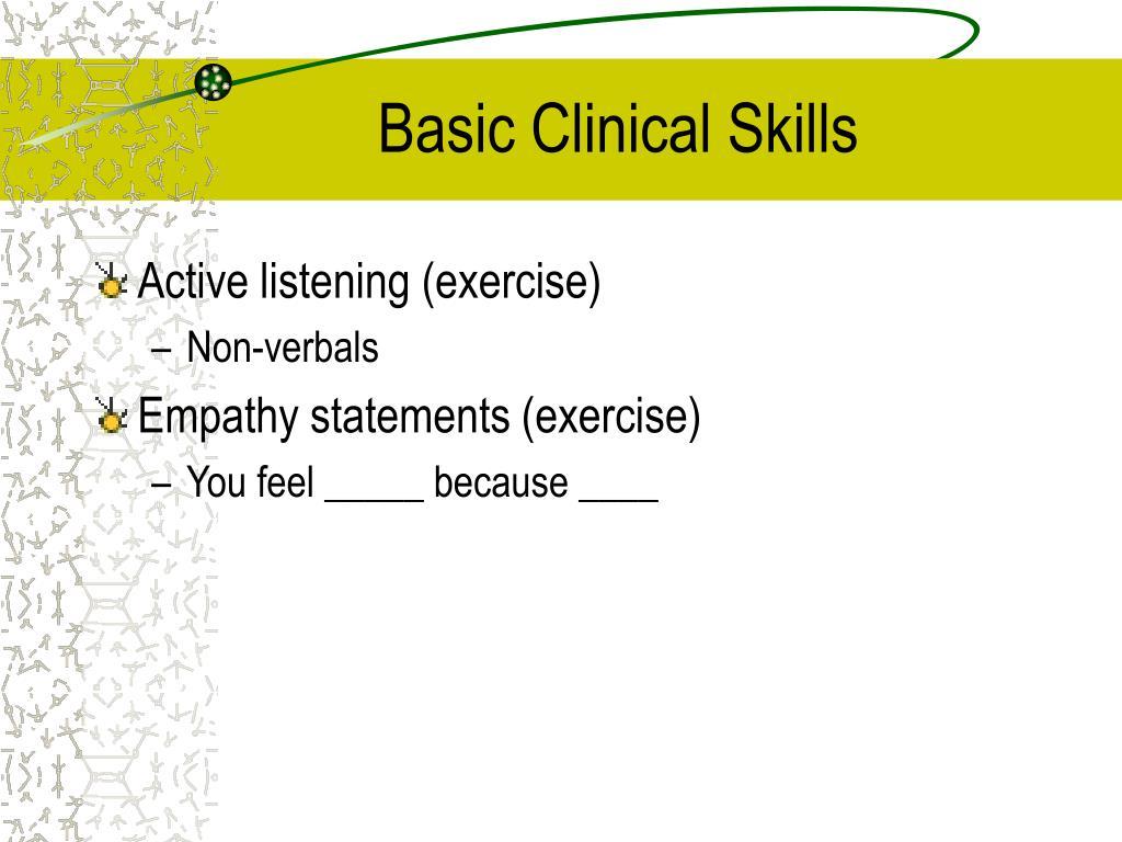 Basic Clinical Skills