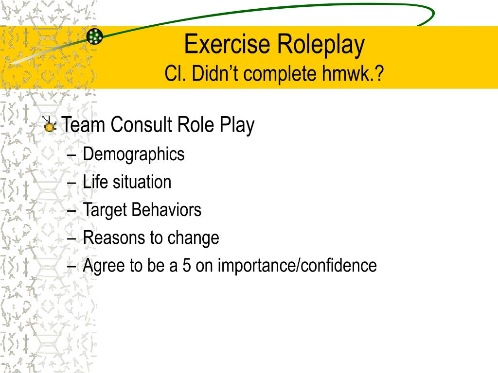Exercise Roleplay