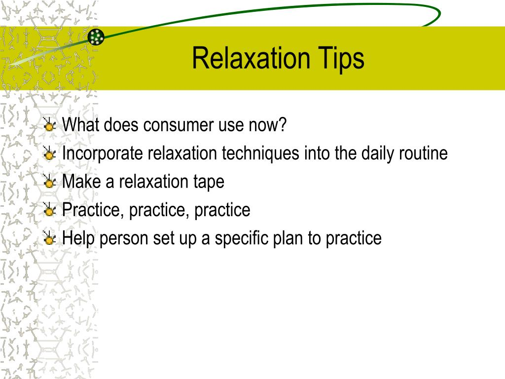 Relaxation Tips