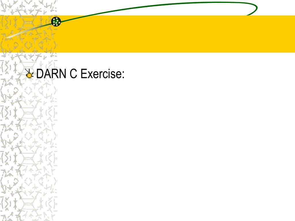 DARN C Exercise: