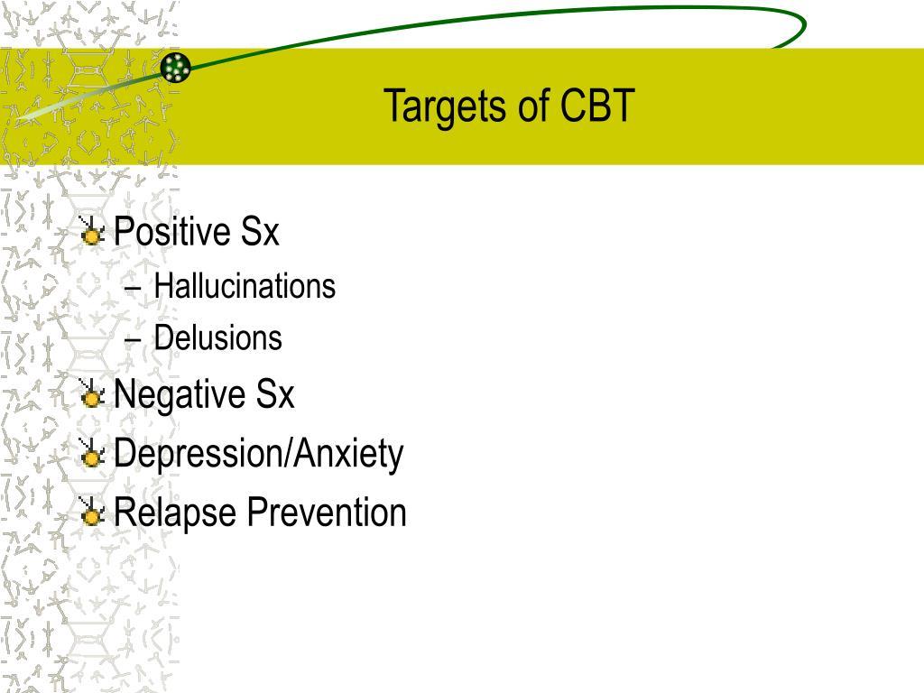 Targets of CBT