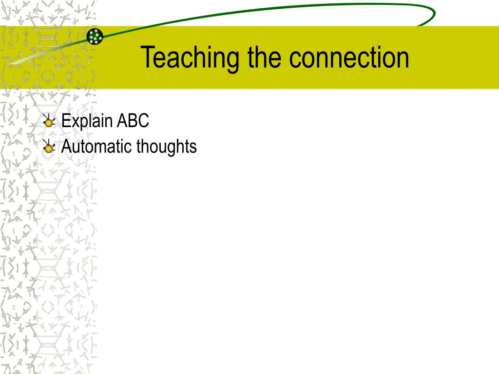 Teaching the connection