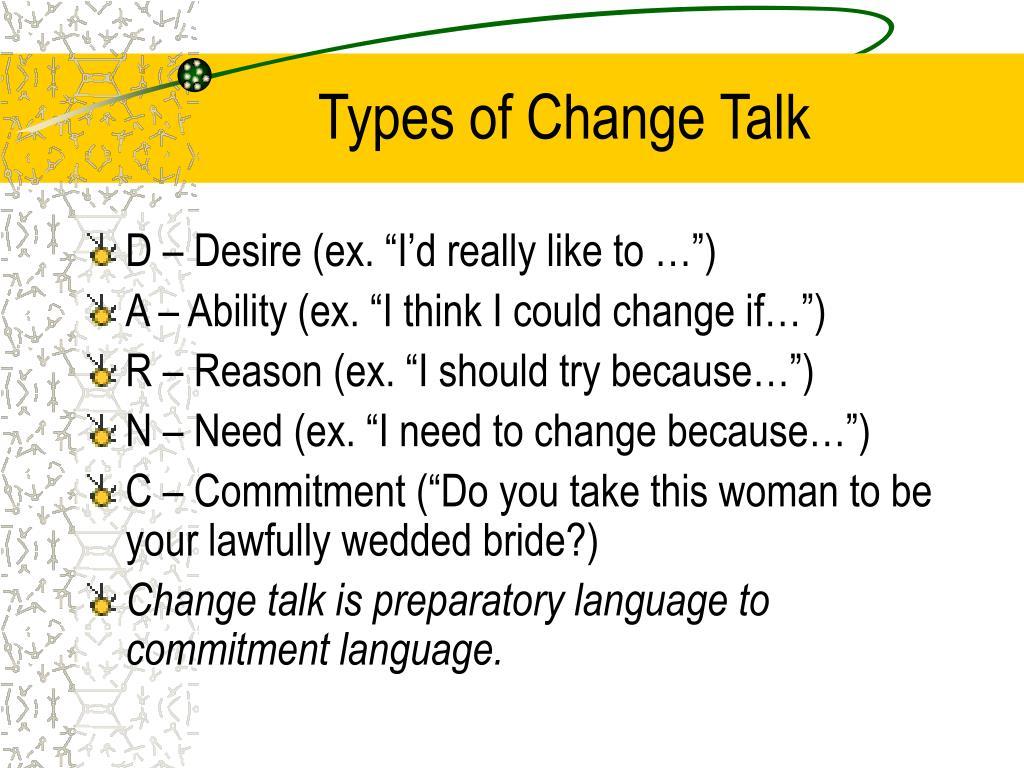 Types of Change Talk