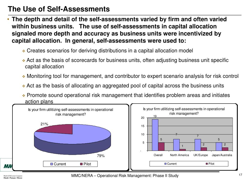 The Use of Self-Assessments