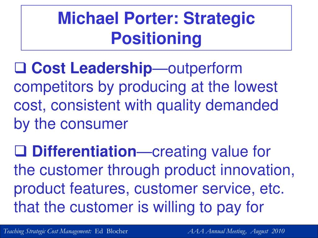 Michael Porter: Strategic