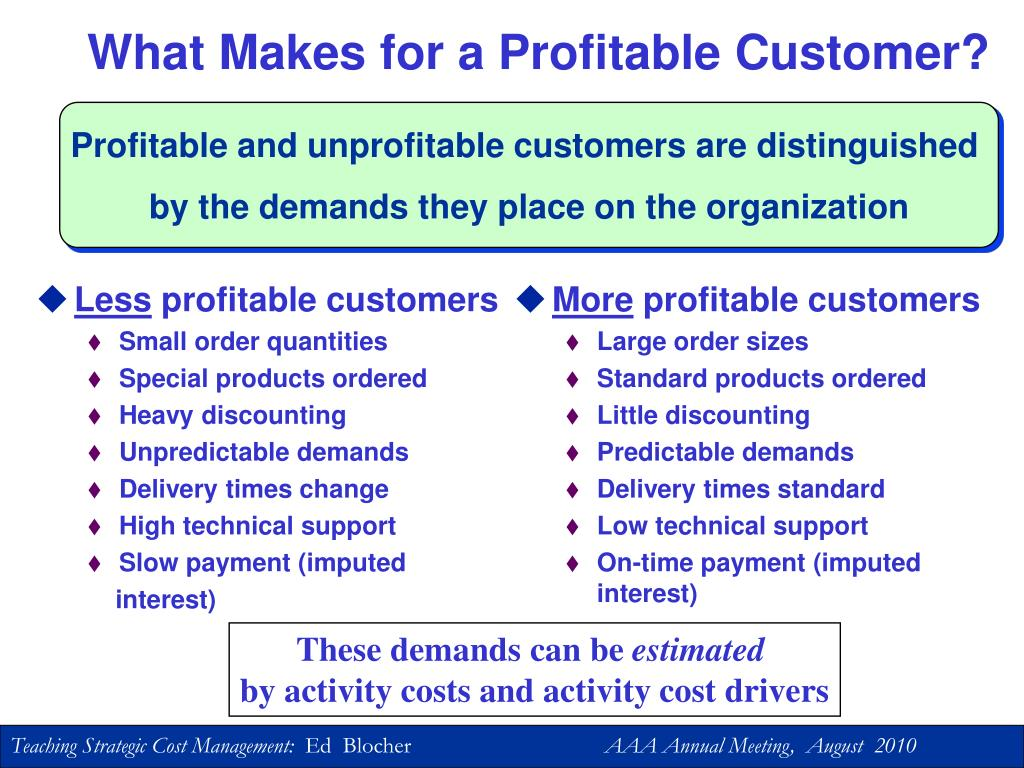 What Makes for a Profitable Customer?
