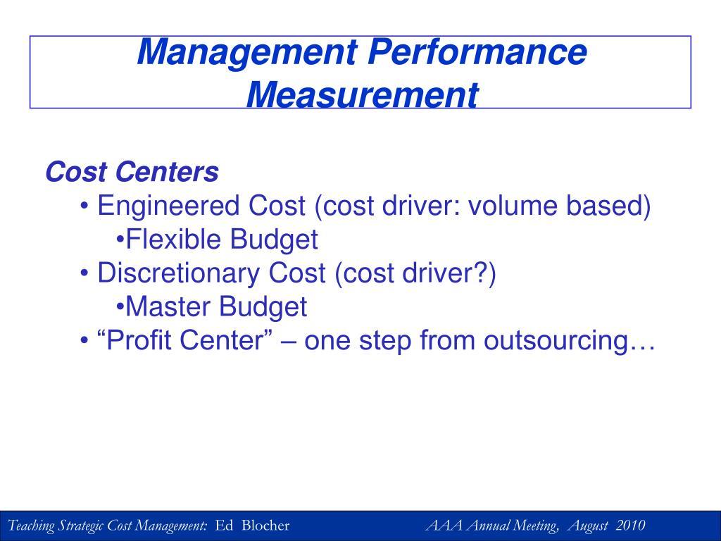 Management Performance Measurement