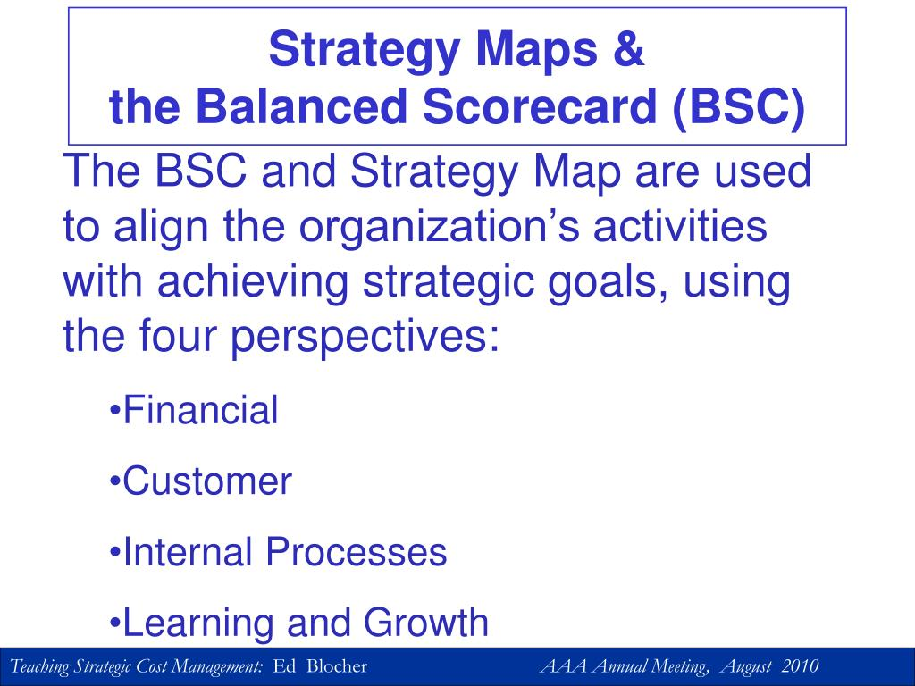 Strategy Maps &