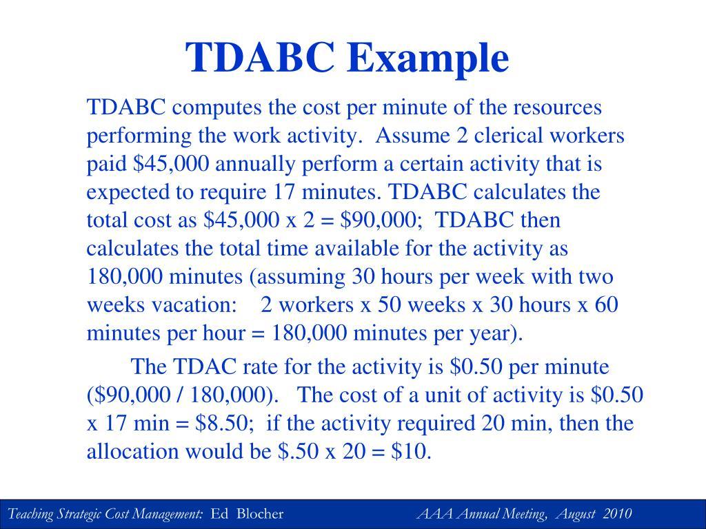 TDABC Example