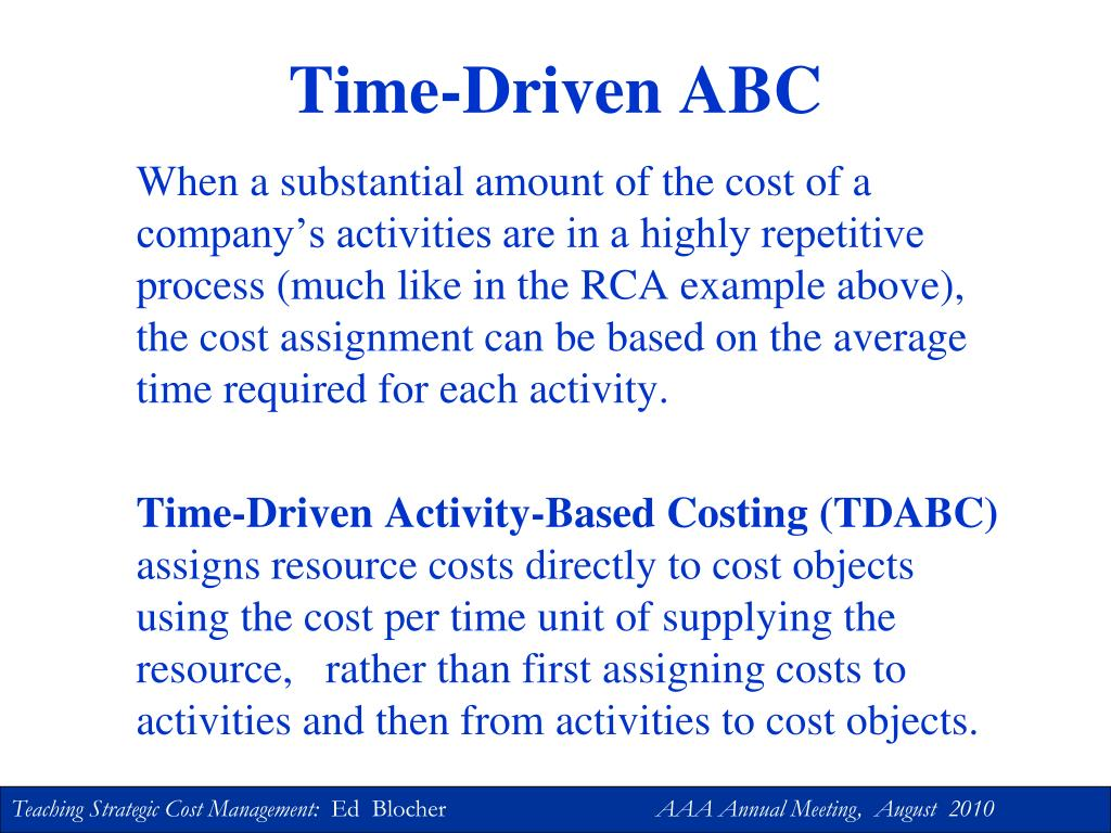 Time-Driven ABC