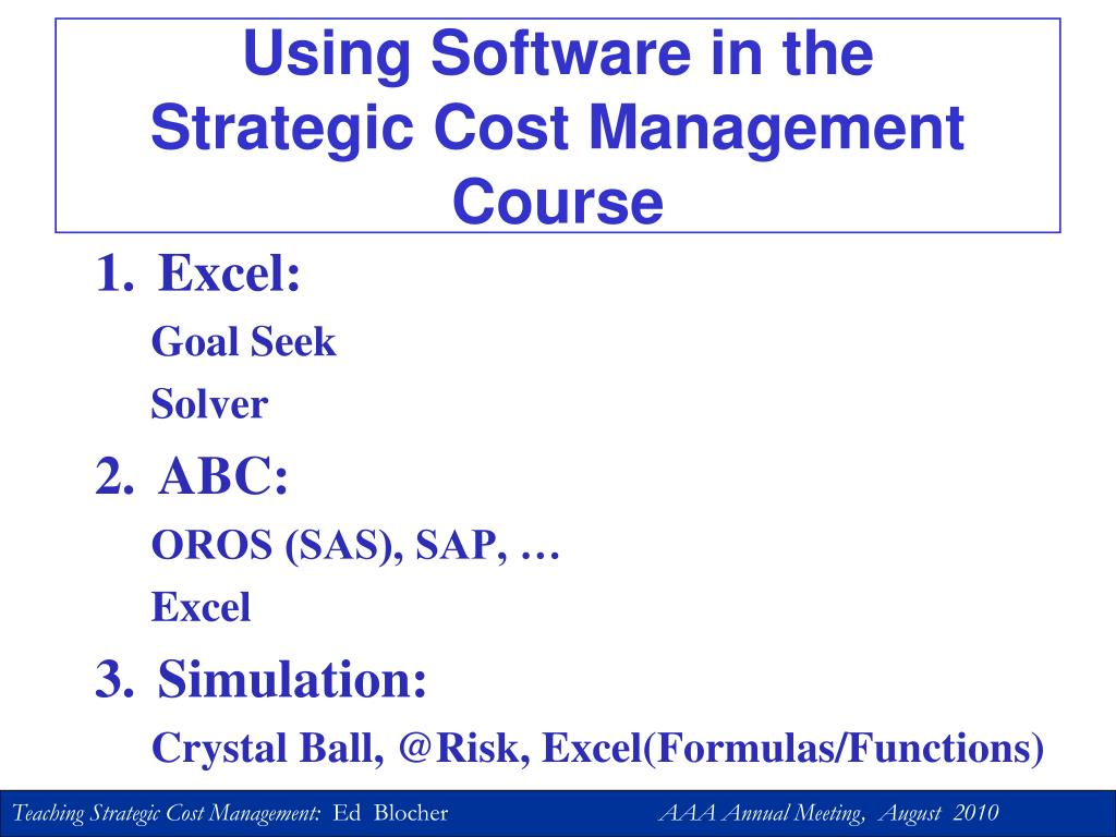 Using Software in the