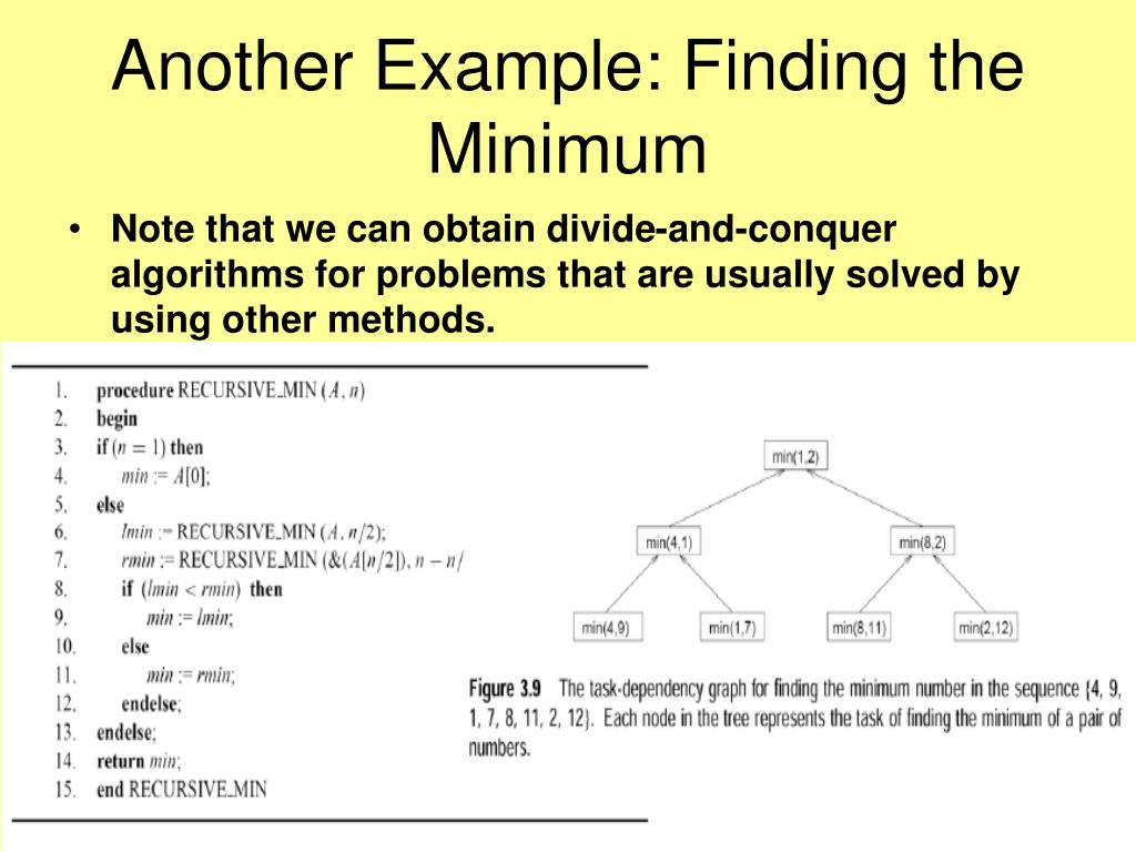 Another Example: Finding the Minimum
