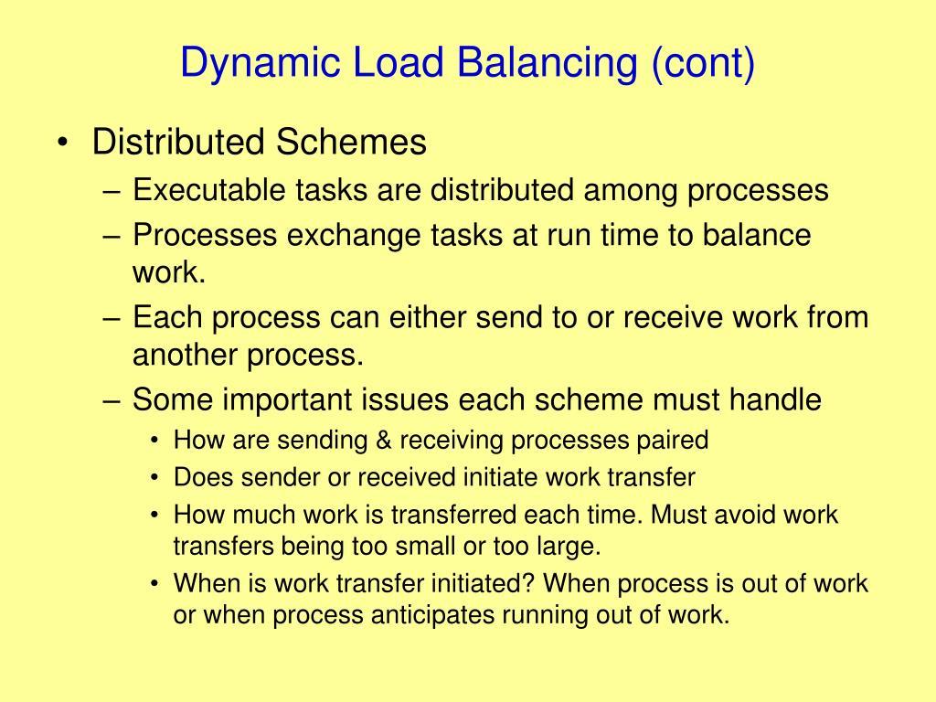 Dynamic Load Balancing (cont)