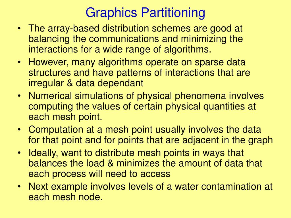 Graphics Partitioning