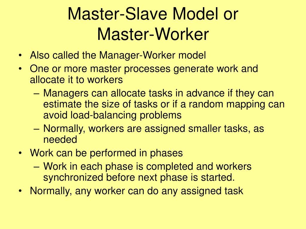 Master-Slave Model or