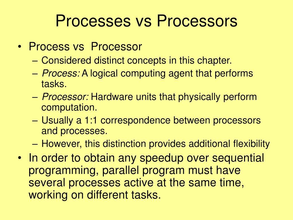 Processes vs Processors