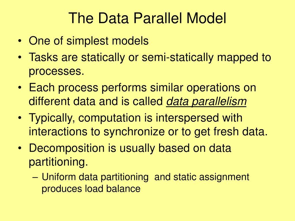 The Data Parallel Model
