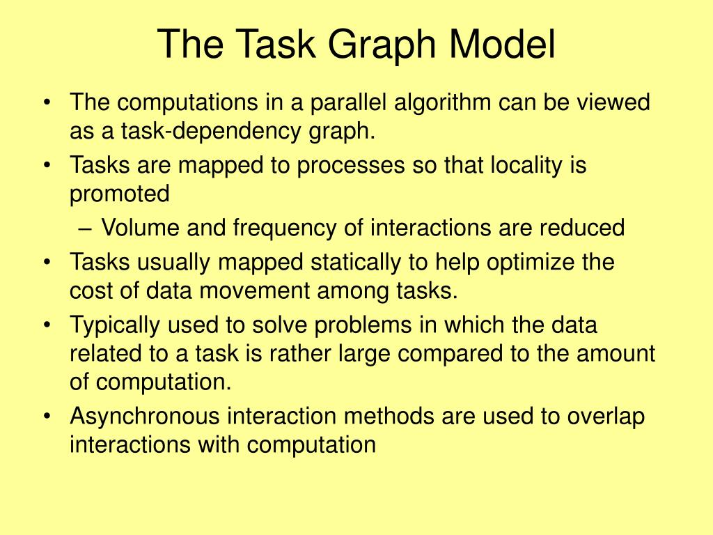 The Task Graph Model