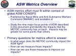 asw metrics overview