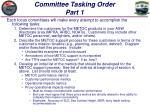committee tasking order part 1