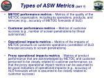 types of asw metrics part 1
