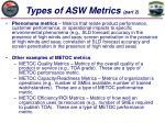 types of asw metrics part 2
