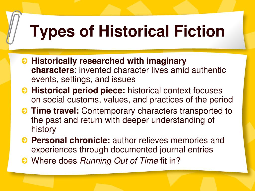 Types of Historical Fiction