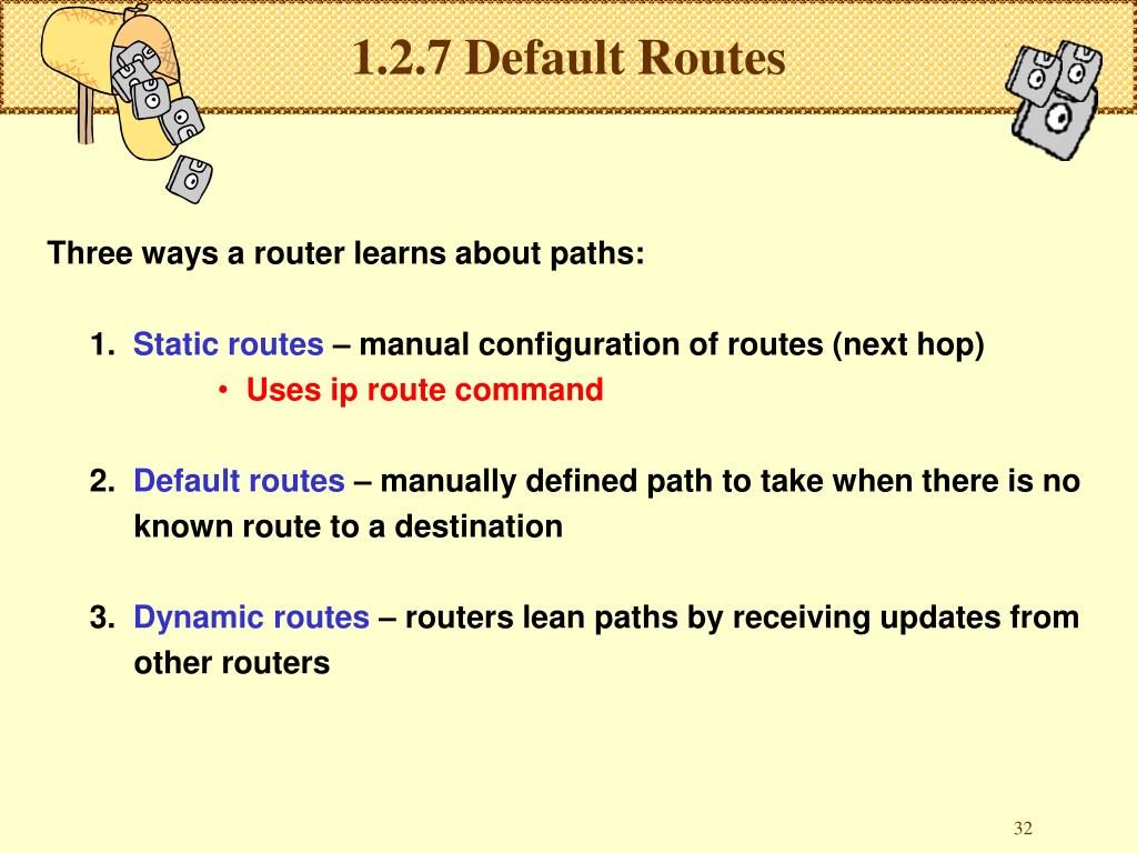 1.2.7 Default Routes