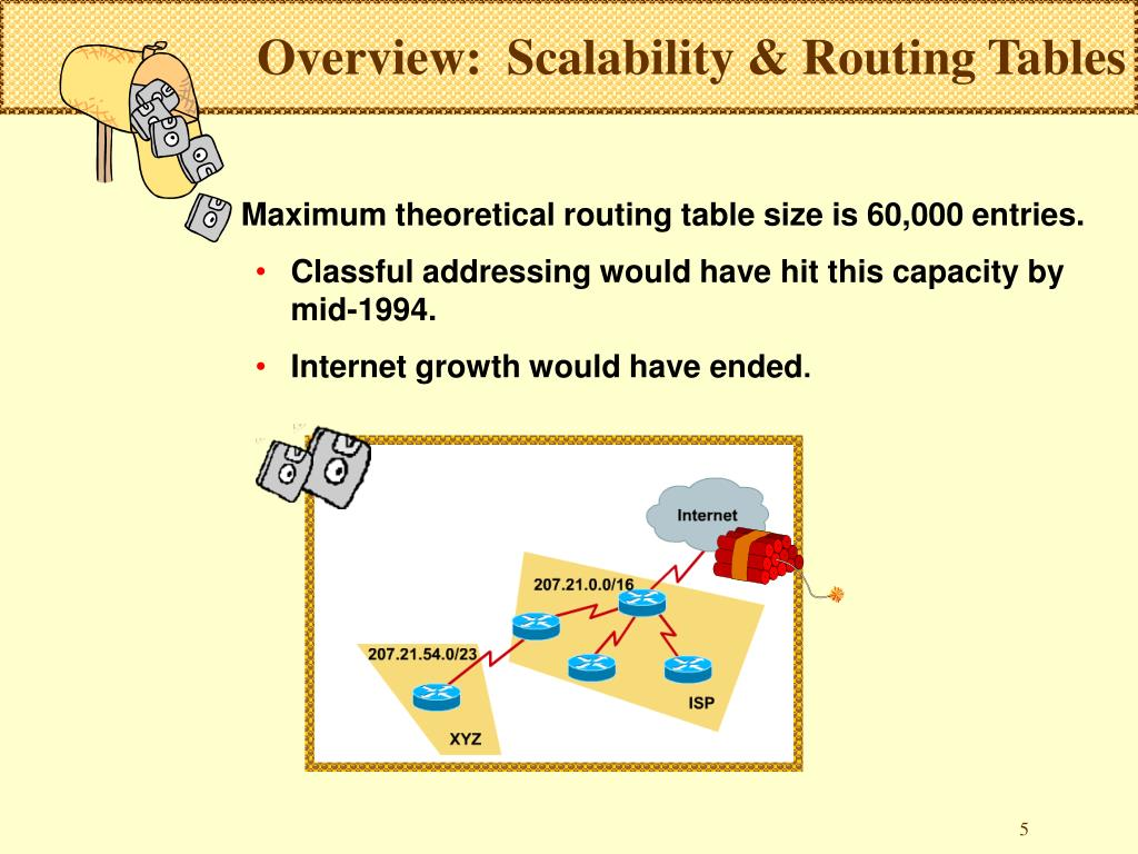 Overview:  Scalability & Routing Tables