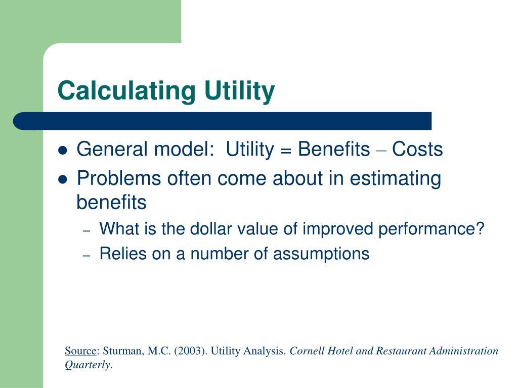 Calculating Utility