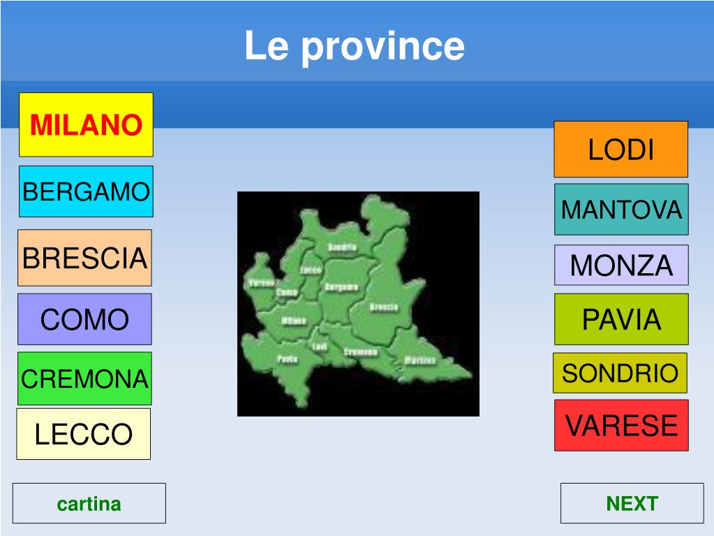 Le province