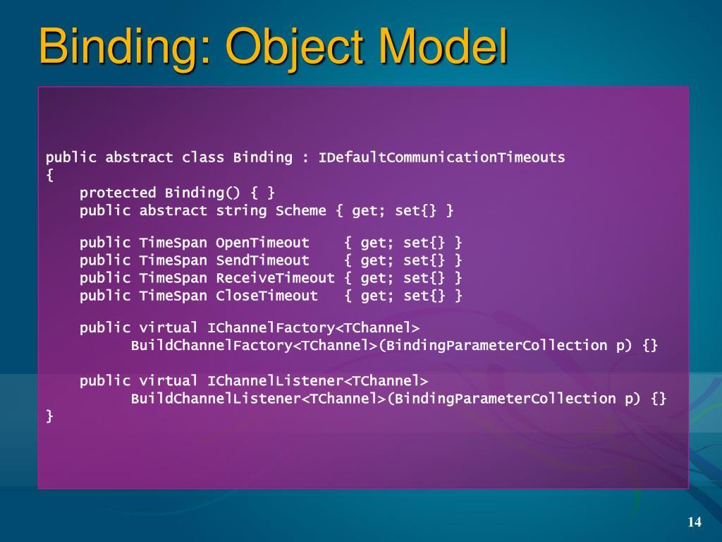 Binding: Object Model