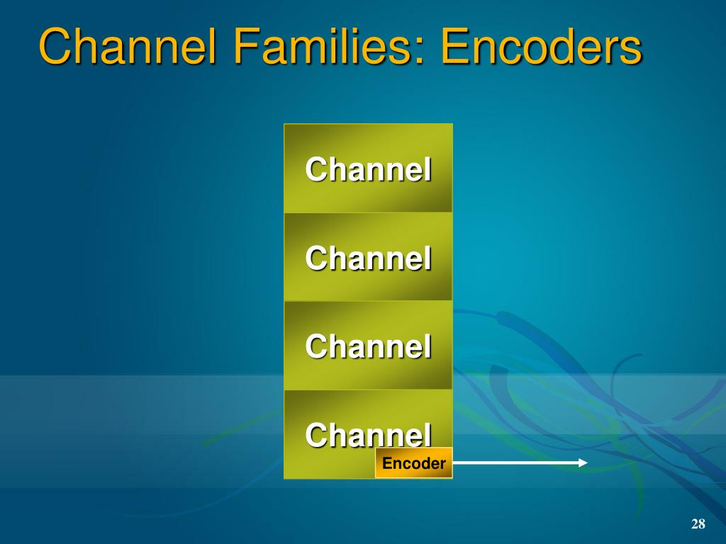 Channel Families: Encoders