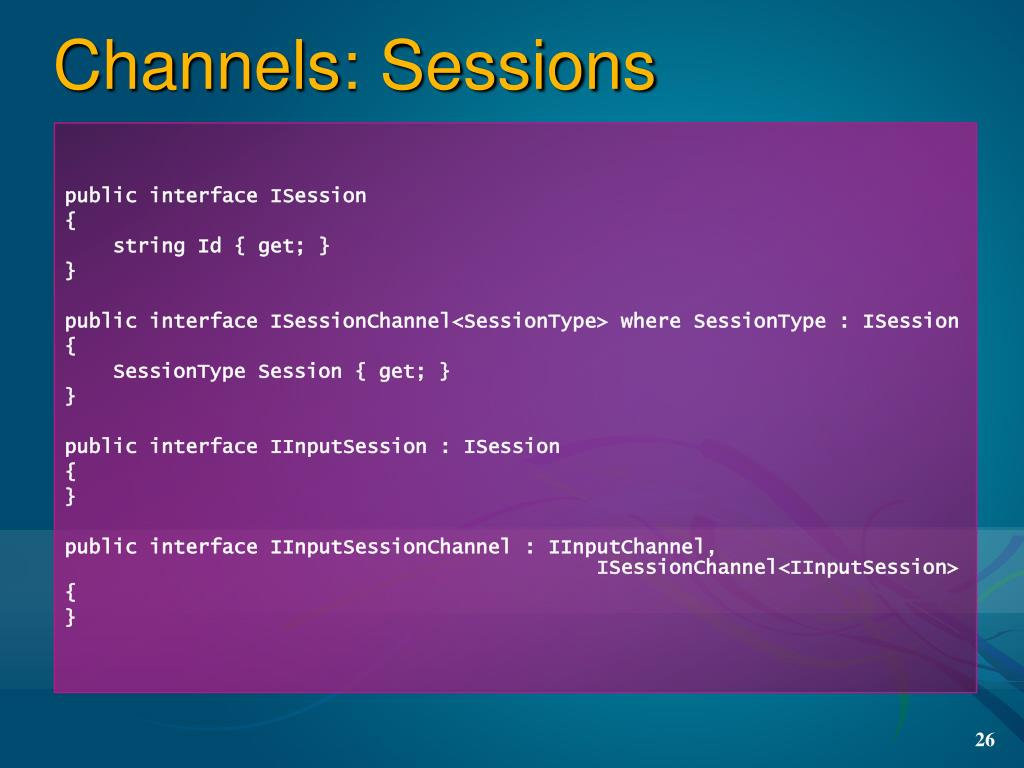 Channels: Sessions