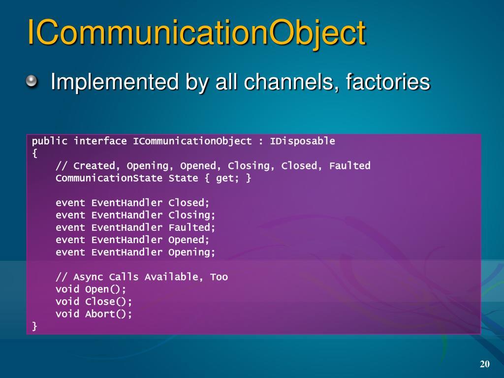 ICommunicationObject