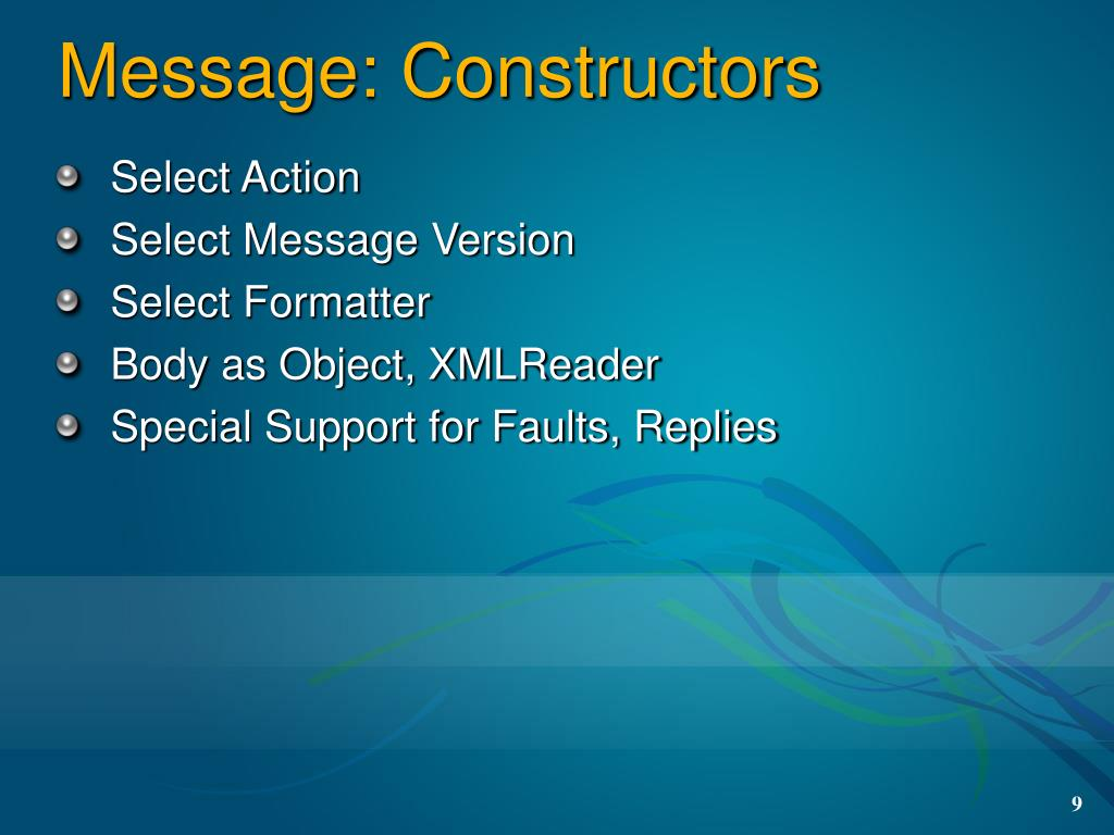 Message: Constructors