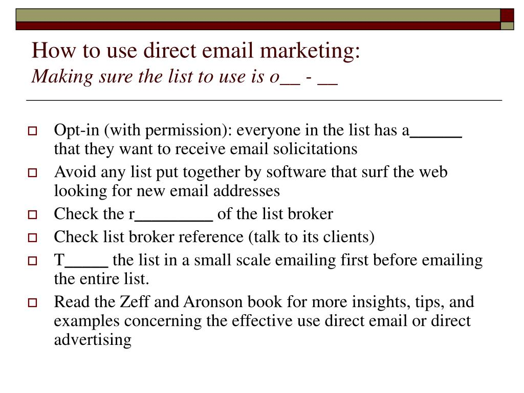 How to use direct email marketing: