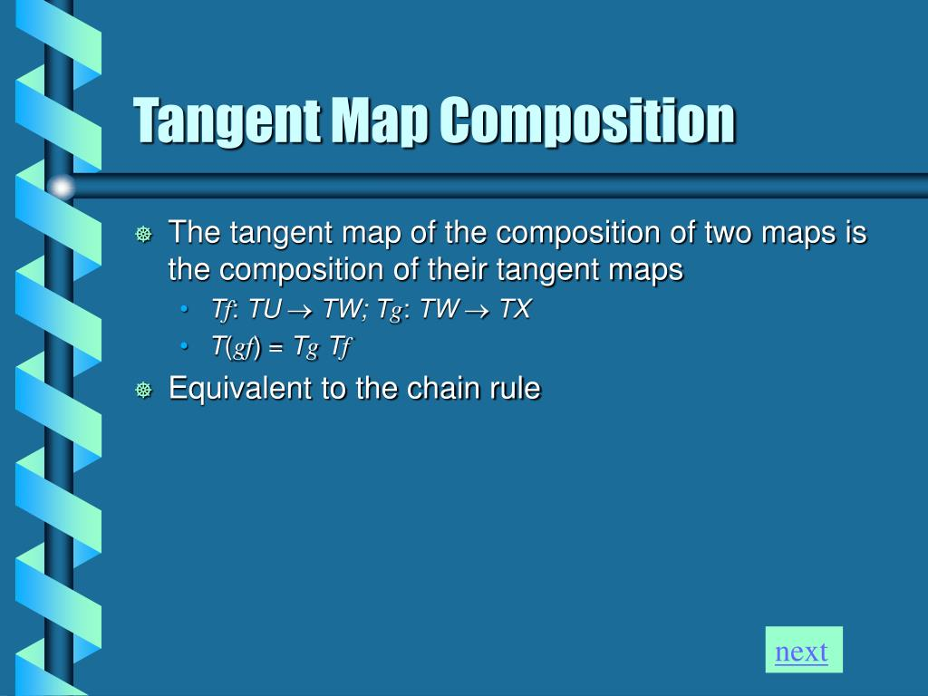 Tangent Map Composition