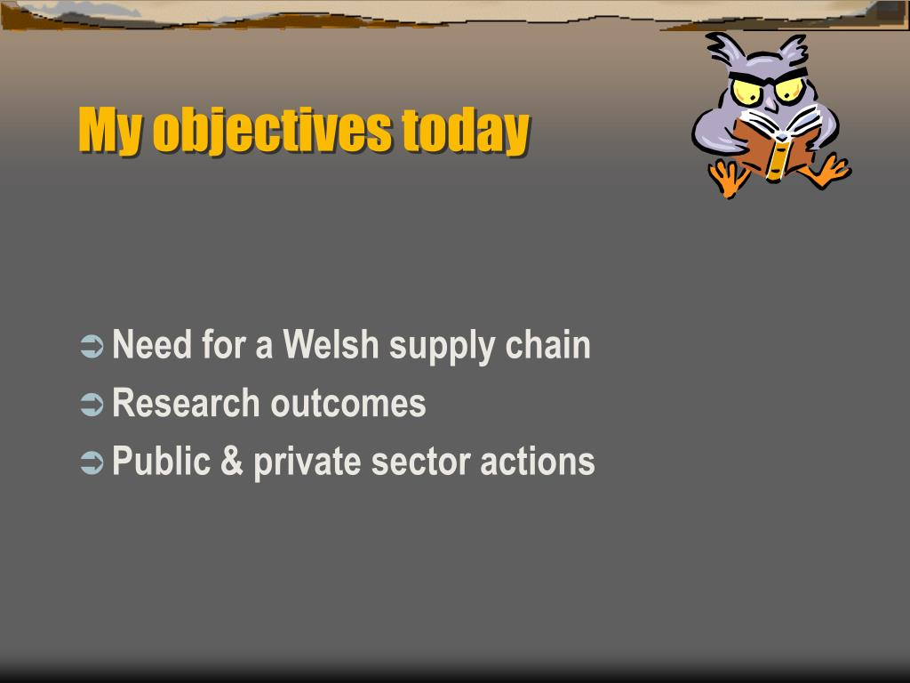 My objectives today