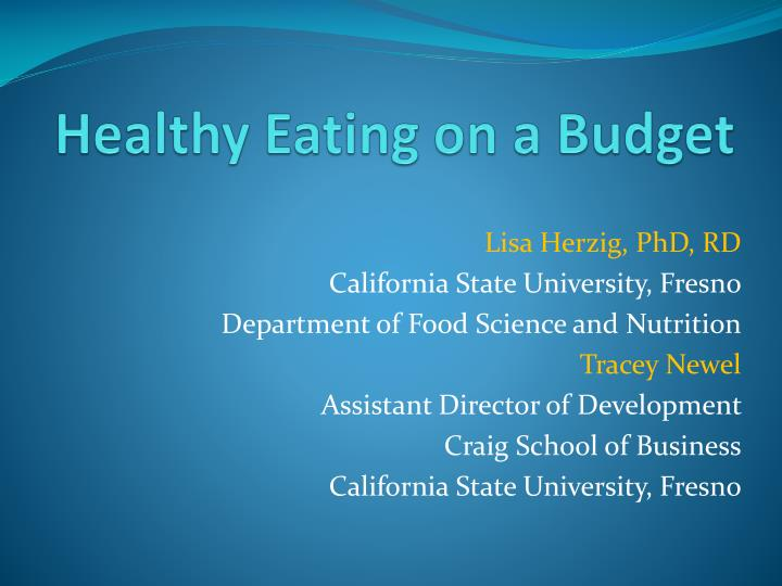 ppt healthy eating on a budget powerpoint presentation id 542450