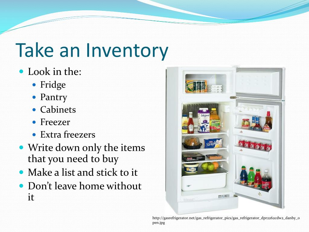 Take an Inventory