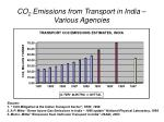 co 2 emissions from transport in india various agencies