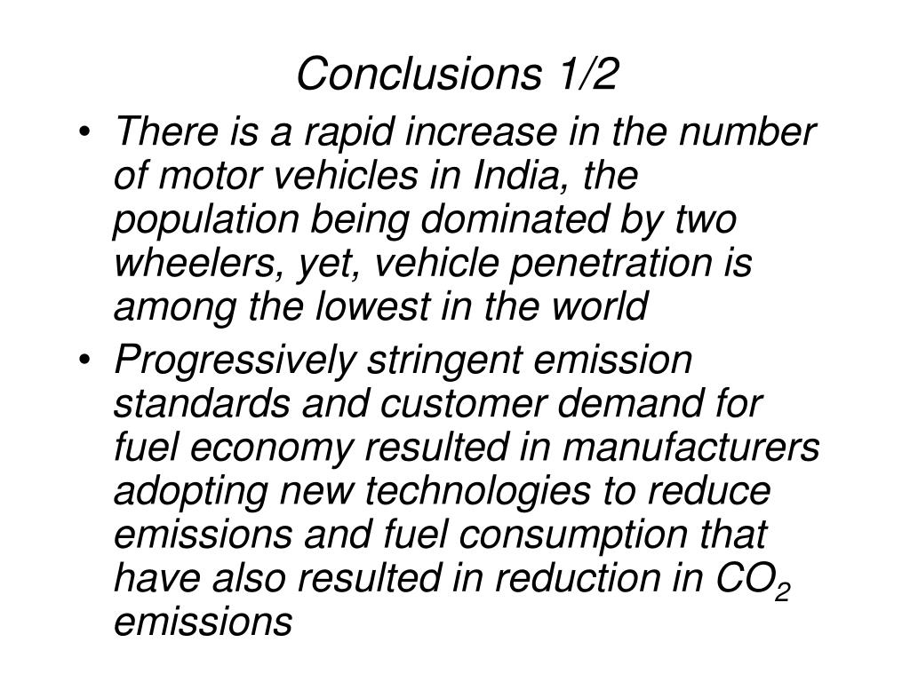 Conclusions 1/2