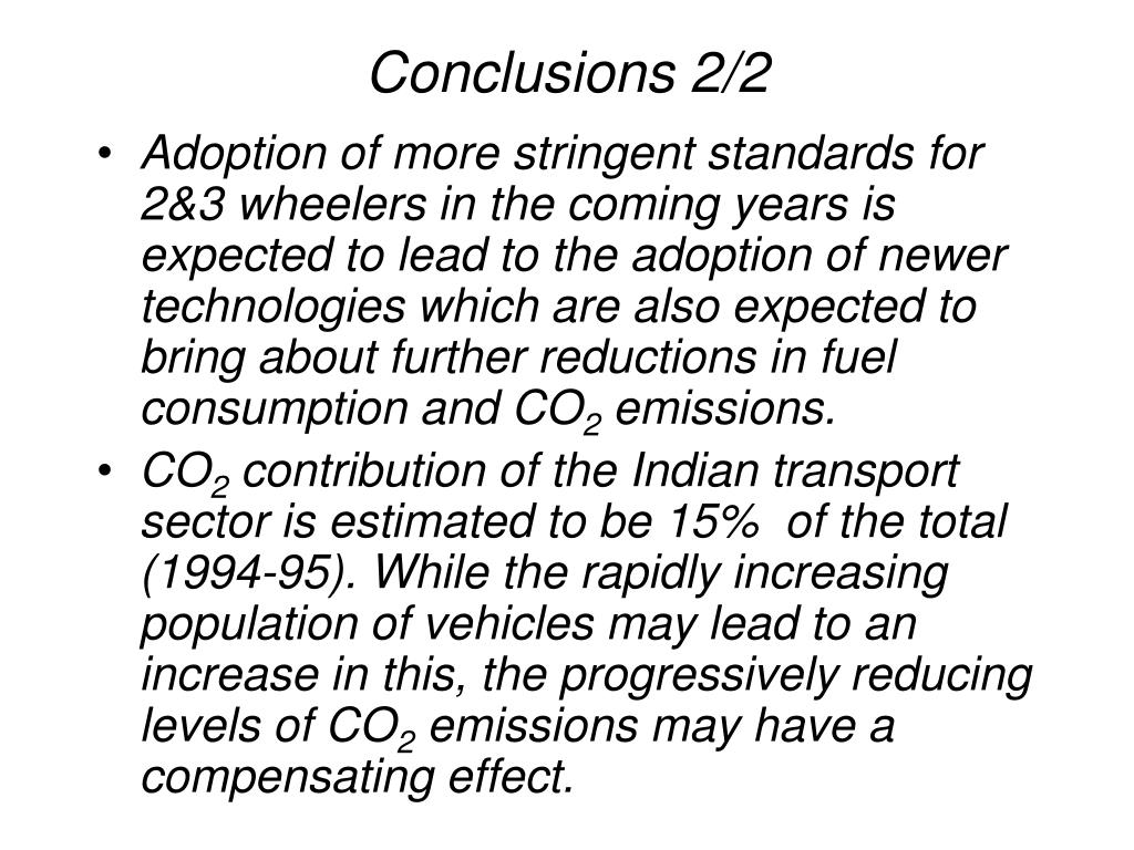 Conclusions 2/2