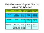main features of engines used on indian two wheelers