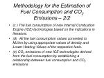 methodology for the estimation of fuel consumption and co 2 emissions 2 2
