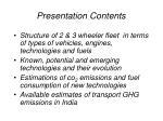 presentation contents