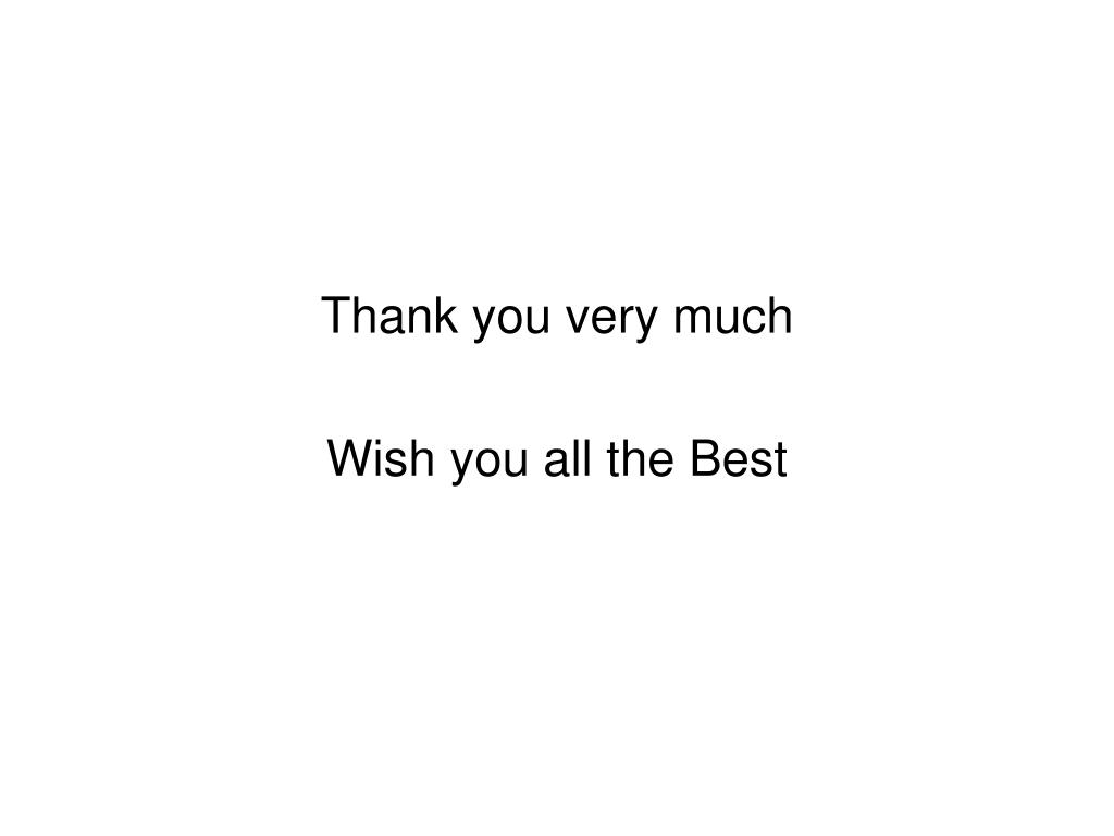 Thank you very much