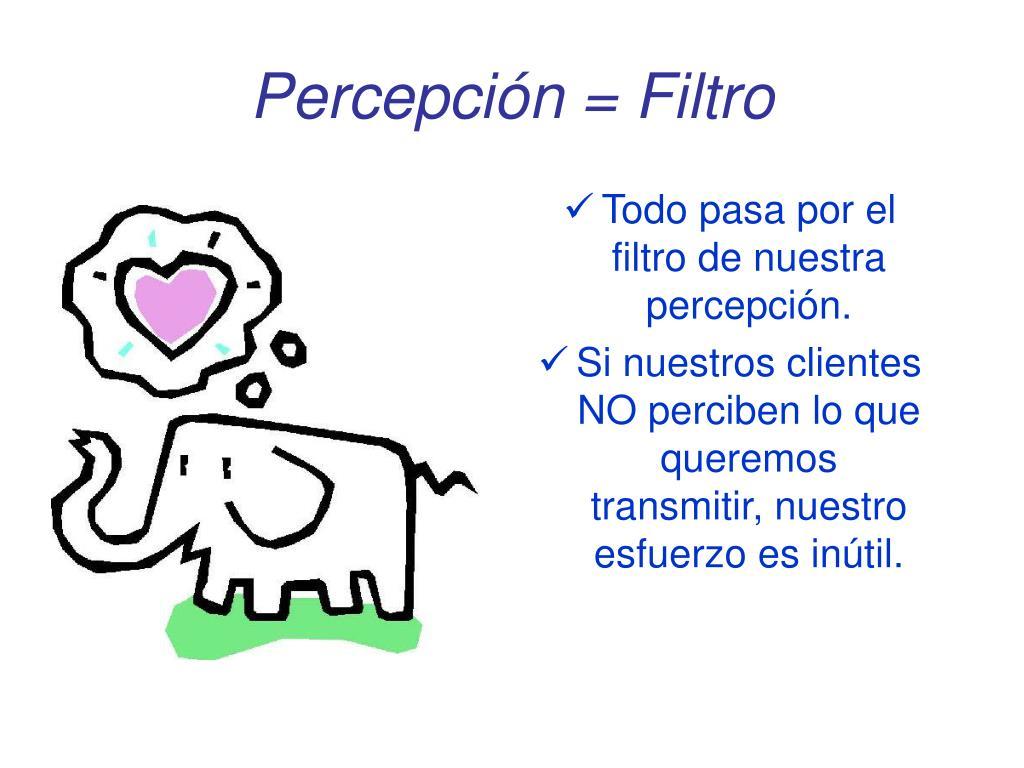 Percepción = Filtro